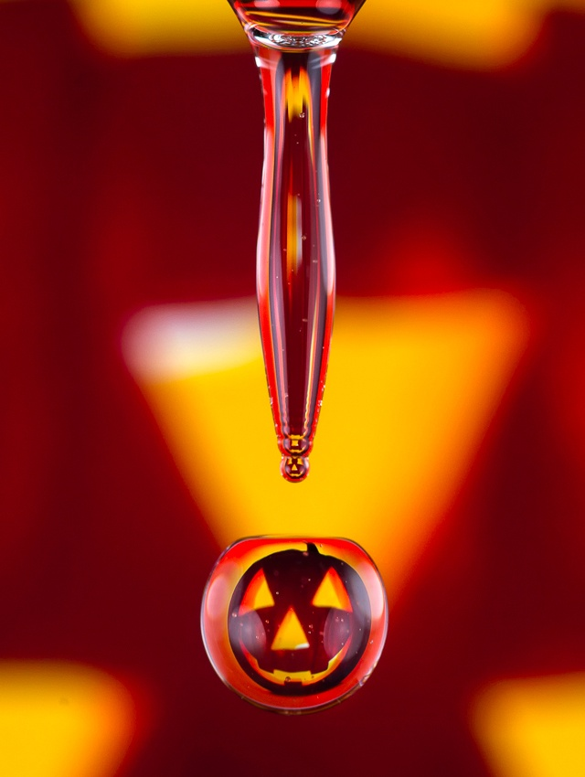 Halloween Refraction Droplet by George Hauxwell